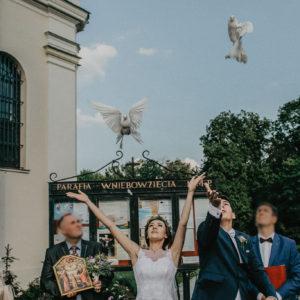 gołębie na ślubie kalisz