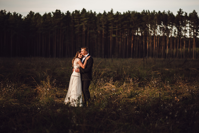Leśny plener Fotografia Ślubna