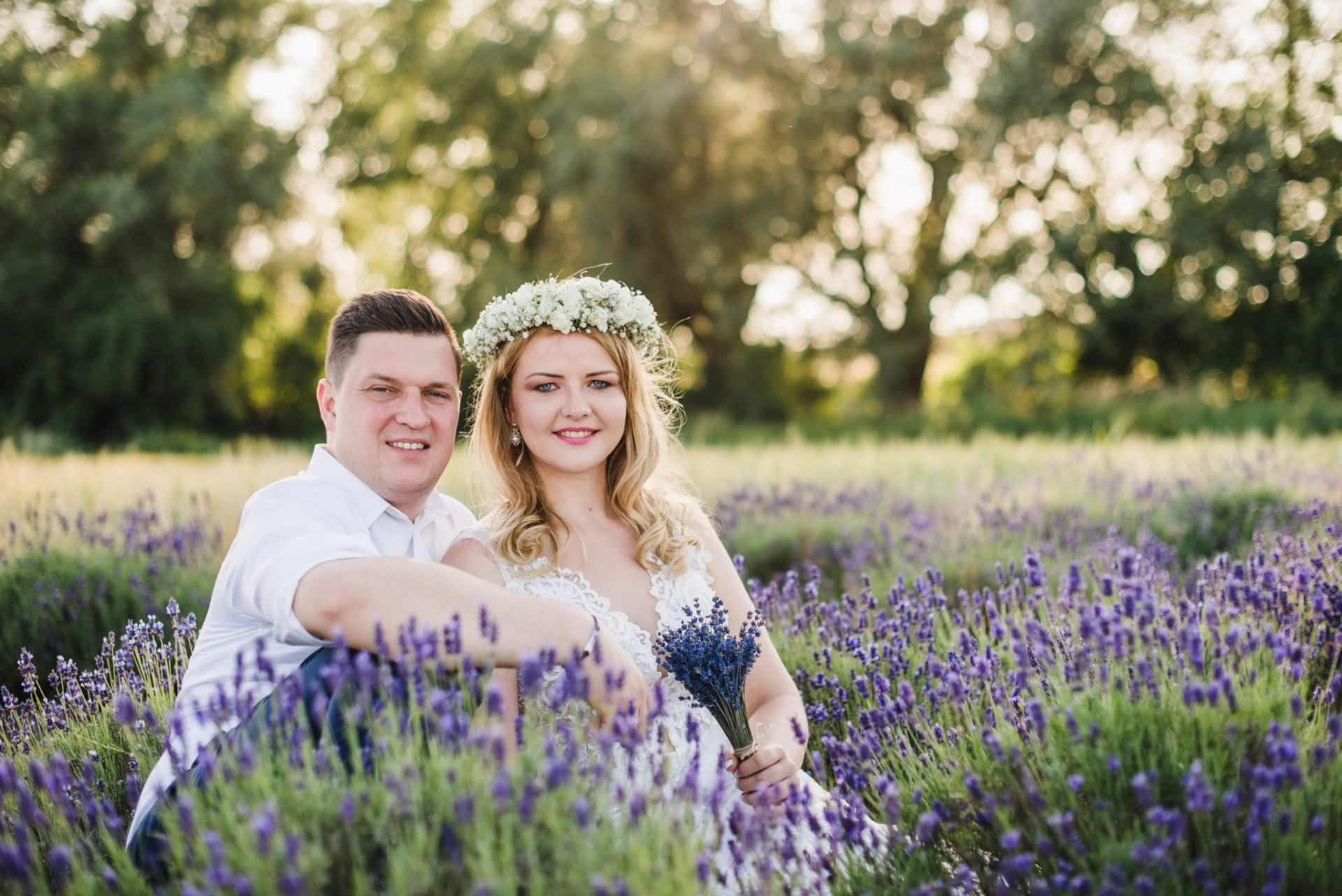 Plener ślubny w lawendzie